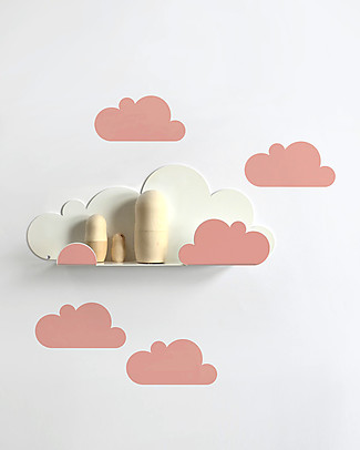 Tresxics Shelf Clouds - Coral Red Wall Stickers