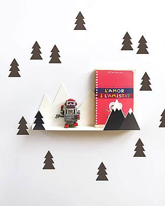 Tresxics Shelves Fir Trees - Black Wall Stickers