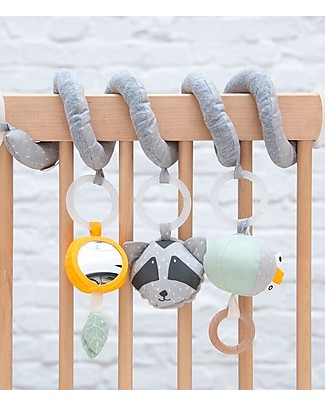 Trixie Activity Spiral, Mr Racoon - From Birth - Perfect Baby Shower Gift! Newborn Toys