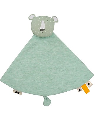 Trixie Baby Comforter, Mr Polar Bear - Blanket, Animal Toy and Dummy Clip! Doudou & Comforters