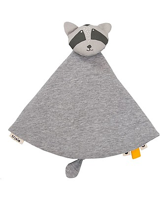 Trixie Baby Comforter, Mr Racoon - Blanket, Animal Toy and Dummy Clip! Doudou & Comforters