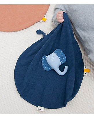 Trixie Baby Comforter, Mrs Elephant - Blanket, Animal Toy and Dummy Clip! Doudou & Comforters