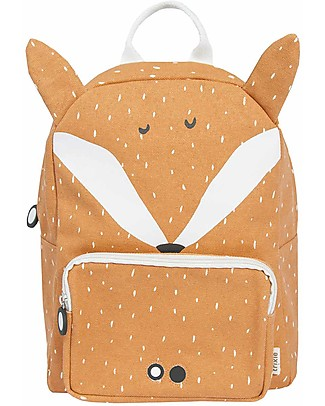 Trixie Backpack for Preschool, Mr Fox - Cotton (23x12x31cm) Small Backpacks