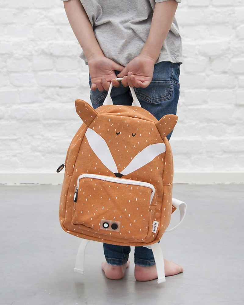 7ffb9fd9ed9 Trixie Backpack for Preschool, Mr Fox - Cotton (23x12x31cm) Small Backpacks