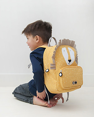 Trixie Backpack for Preschool, Mr Lion - Cotton (23x12x31cm) Small Backpacks