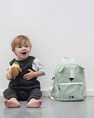 Trixie Backpack for Preschool, Mr Polar Bear - Cotton (23x12x31cm) Small Backpacks