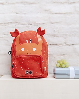 Trixie Backpack for Preschool, Mrs Crab - Cotton (23x12x31cm) Small Backpacks