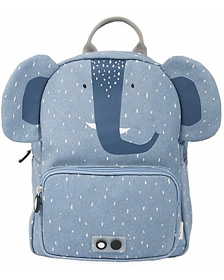 Trixie Backpack for Preschool, Mrs Elephant - Cotton (23x12x31cm) Small Backpacks