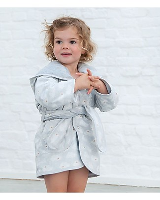 Trixie Bathrobe for Babies Aged 2-3 years, Clouds - Cotton Towels And Flannels