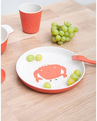 Trixie Biodegradable Plate, Mrs Crab - Bamboo Bowls & Plates
