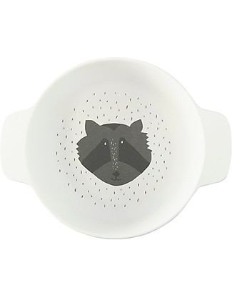 Trixie Bowl with Handles in Bamboo, Mr Racoon - Encourage the child Feed Himself Bowls & Plates