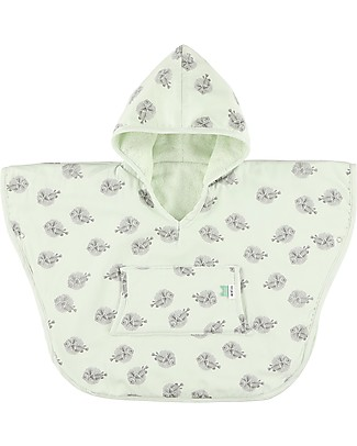 Trixie Hooded Terry Poncho, Blow Fish - 2-4 years Towels And Flannels