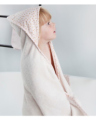 Trixie Hooded Towel & Washcloth, Moonstone - 75x75cm Towels And Flannels