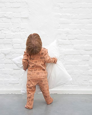 Trixie Long Sleeved Pyjiama 2 pieces, Silly Sloth - 100% Organic Cotton Pyjamas