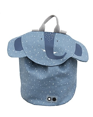 Trixie Mini Backpack for Primary School, Mrs Elephant - Cotton (37x32cm) Large Backpacks