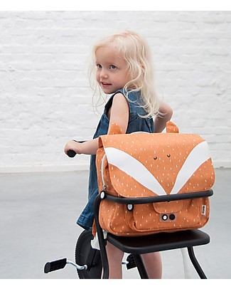 Trixie Satchel, Mr Fox - Cotton (29x10x25cm) Large Backpacks