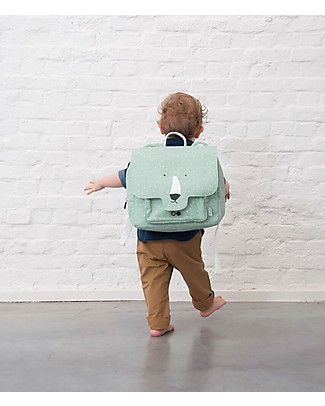 Trixie Satchel, Mr Polar Bear - Cotton  (29x10x25cm) Large Backpacks