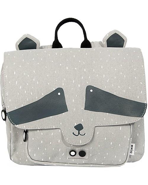 Trixie Satchel, Mr Racoon - Cotton (29x10x25cm) Large Backpacks