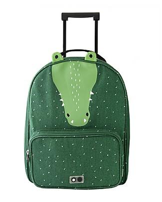 Trixie Travel Trolley, Mr Crocodile - Cotton (34x15x45cm) Travel Bags