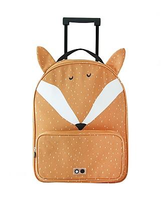 Trixie Travel Trolley, Mr Fox - Cotton (34x15x45cm) Travel Bags