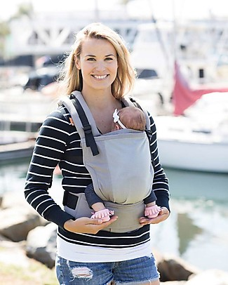 Tula Free-to-Grow Baby Carrier, Overcast - From 3.2 Kg, Grows with your Baby! Baby Carriers