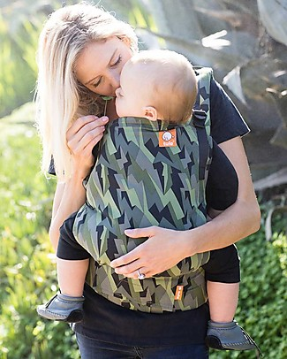 Tula Toddler Carrier Canvas, Black Lightning - From 11 Kg, For Children who love Cuddles! Baby Slings