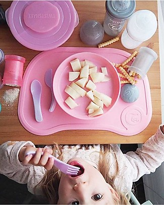 Twistshake Bowl Plate and Cover - Pastel Pink - BPA, BPS and BPF-free! Bowls & Plates