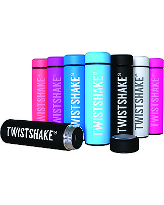 Twistshake Hot/Cold Stainless Steel Insulated Bottle 420ml, Blu Cookiecrumb - Keeps the Temperature for up to 10 Hours! Thermos Bottles