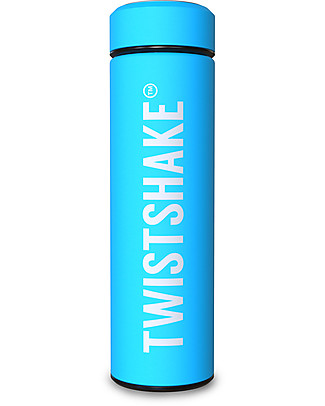 Twistshake Hot/Cold Stainless Steel Insulated Bottle 420ml, Turquoise Sleepyhead - Keeps the Temperature for up to 10 Hours! Thermos