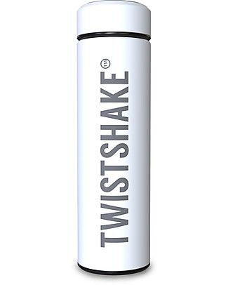 Twistshake Hot/Cold Stainless Steel Insulated Bottle 420ml, White Diamond - Keeps the Temperature for up to 10 Hours! Thermos