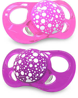 Twistshake Orthodontic Pacifiers (Pack of 2) 6+ months, Purple-Pink - Extra-soft silicone, BPA-free! Dummies & Soothers