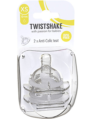 Twistshake Set of 2 No-Spill Silicone Spouts for Twistshake Baby Bottles, X-Small 0+m - BPA free Anti-Colic Baby Bottles