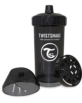 Twistshake Spill-Free Kid Bottle Fruit Splash with Fruit Mixer, 360 ml, Black Superhero - BPA, BPS and BPF-free! BPA-Free Bottles