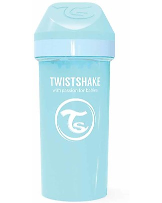 Twistshake Spill-Free Kid Bottle Fruit Splash with Fruit Mixer, 360 ml, Light Blue - BPA, BPS and BPF-free! BPA-Free Bottles