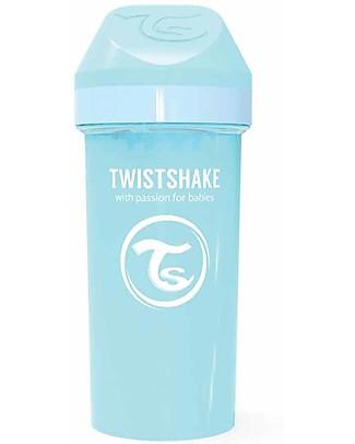 Twistshake Spill-Free Kid Bottle Fruit Splash with Fruit Mixer, 360 ml, Light Blue - BPA, BPS and BPF-free! Cups & Beakers