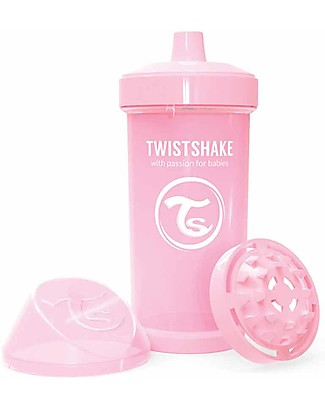 Twistshake Spill-Free Kid Bottle Fruit Splash with Fruit Mixer, 360 ml, Pink - BPA, BPS and BPF-free! BPA-Free Bottles
