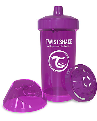 Twistshake Spill-Free Kid Bottle Fruit Splash with Fruit Mixer, 360 ml, Purple Bestie - BPA, BPS and BPF-free! BPA-Free Bottles