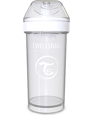 Twistshake Spill-Free Kid Bottle Fruit Splash with Fruit Mixer, 360 ml, White Diamond - BPA, BPS and BPF-free! BPA-Free Bottles