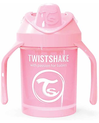 Twistshake Spill Free Mini Sippy Cup Fruit Splash with Fruit Mixer 230 ml, Pink - BPA, BPS and BPF-free! Sippy Cups