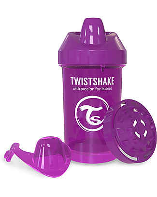 Twistshake Spill Free Sippy Cup Fruit Splash with Fruit Mixer 300 ml, Purple Bestie - BPA, BPS and BPF-free! Sippy Cups