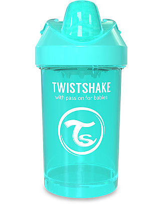 Twistshake Spill Free Sippy Cup Fruit Splash with Fruit Mixer 300 ml, Turquoise Sleepyhead - BPA, BPS and BPF-free! Sippy Cups