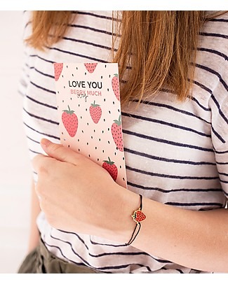 "UO* Bracelet Charm ""Love u berry much"" - Gift idea Bracelets"