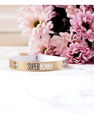 "UO Bracelet ""Super nonna"" - Gift idea, gold Bracelets"
