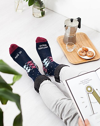 "UO* Calzini ""Papà sei un gran gentleman"" - Gift idea Socks"