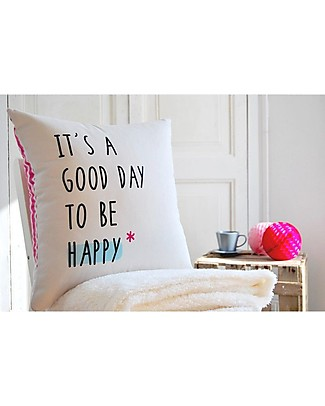 "UO Cushion cover ""It's a Good Day To Be Happy"" Cushions"