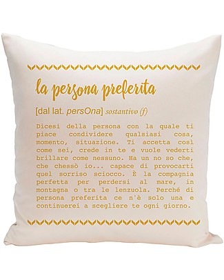 "UO* Cushion Cover ""La Persona Preferita""  Cushions"
