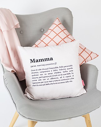 "UO* Cushion Cover ""Mamma Definizione"" - Mom's gift idea Cushions"