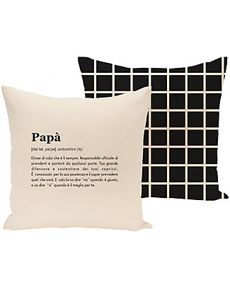 "UO* Cushion Cover ""Papà Definizione"" - Dad's gift idea Cushions"