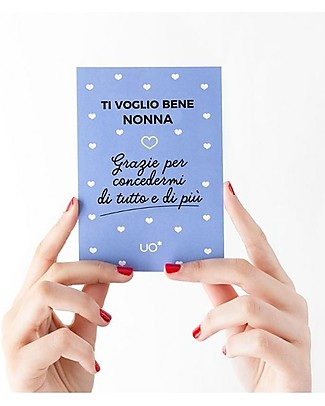"UO Greeting Card ""Ti voglio bene nonna"" - Gift idea Greetings Cards"