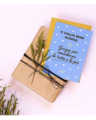 "UO* Greeting Card ""Ti voglio bene nonna"" - Gift idea Greetings Cards"